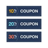 Label coupon sale promotion vector royalty free illustration