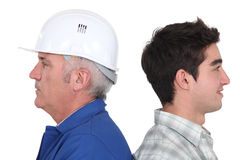 Master and apprentice stood together Royalty Free Stock Images