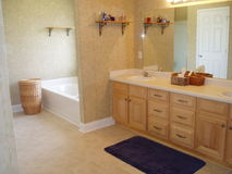 Master bath. Here is a picture of a master bathroom in a nice home Stock Photography