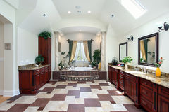 Master bath with columns Stock Image