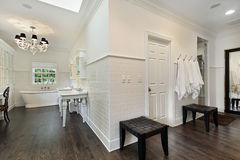 Master bath with dressing area Royalty Free Stock Image