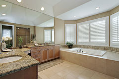 Master bath with granite counters Stock Image