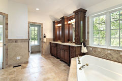 Master bath with jacuzzi tub Stock Photography