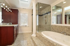 Master bath with large tub Stock Photo