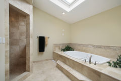 Master bath in luxury home Stock Photo