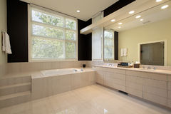 Master bath in luxury home Stock Photography
