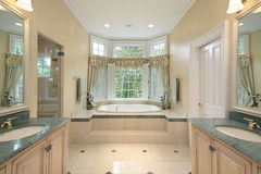 Master bath in luxury home Royalty Free Stock Photography
