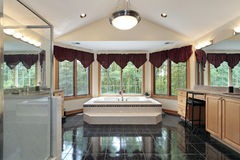 Master bath in luxury home Royalty Free Stock Image