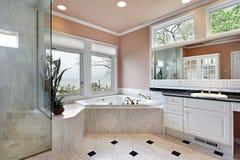 Master bath in luxury home Stock Photo