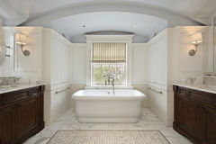 Master bath in luxury home Royalty Free Stock Images