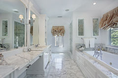 Master bath with marble counters Stock Images