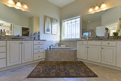 Luxurious Master Bath Stock Photo