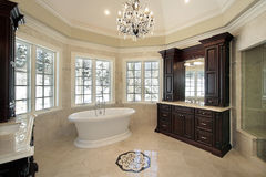 Master bath in new construction home Royalty Free Stock Images