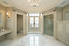 Master bath in new construction home Royalty Free Stock Image
