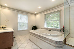 Master bath in remodeled home Stock Photo