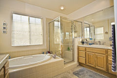 Master bath room in two story house. In San Diego, CA US Royalty Free Stock Images