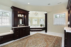 Master bath with separate tub area Royalty Free Stock Images