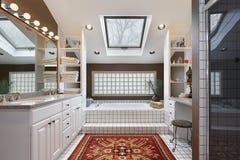 Master bath with skylight Royalty Free Stock Photos