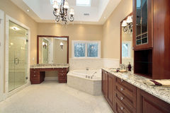 Master bath with skylights Royalty Free Stock Photos