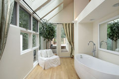 Master bath with skylights Royalty Free Stock Photo