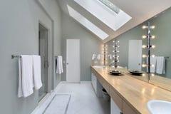 Master bath with skylights Royalty Free Stock Photos
