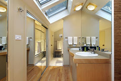 Master bath with skylights Royalty Free Stock Images