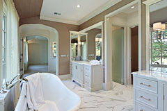Master bath with standalone tub Royalty Free Stock Photos