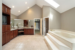 Master bath with step up tub Stock Image