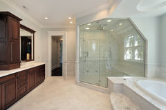 Master bath with step up tub Stock Images