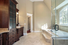 Master bath with step up tub Stock Photos