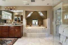 Master bath with step up tub Stock Photos