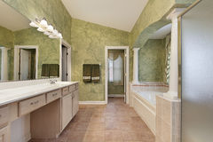 Master bath with tub columns Royalty Free Stock Photo