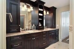 Master bath vanity Stock Image