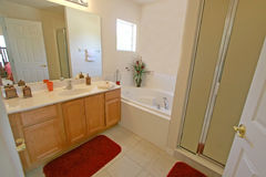 Master Bathroom. A Master Bathroom in a House in Florida Royalty Free Stock Photography