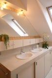 Master Bathroom. Dual sinks in a master bathroom stock image