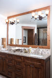 Master bathroom. In luxury upscale home Royalty Free Stock Photo