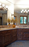 Master bathroom. In luxury upscale mountain home Royalty Free Stock Photography