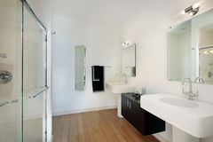 Master bathroom in condominium Royalty Free Stock Image
