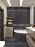 Master bathroom contemporary style Royalty Free Stock Photo