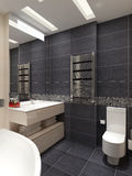 Master bathroom contemporary style Stock Images