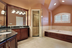 Master bathroom in luxury home Royalty Free Stock Photo