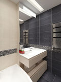 Master bathroom in modern style Stock Image