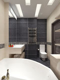 Master bathroom in modern style Royalty Free Stock Images