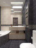 Master bathroom in modern style Royalty Free Stock Photography