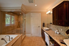 Master bathroom Royalty Free Stock Images