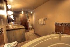 Master bathroom and tub Stock Image