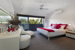 Master bedroom. Stylish master bedroom in luxury Australian mansion Royalty Free Stock Photography