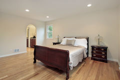 Master bedroom with arched entry Royalty Free Stock Photos