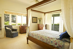 Master Bedroom Country House. A bedroom in a country home Stock Images