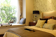 The master bedroom decorate Stock Image